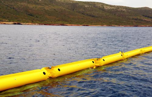 INFLATABLE BOOM A SERIES, LIGHTWEIGHT CONTAINMENT BOOMS, COMPACT OIL BOOMS, OIL SPILL BOOMS 01