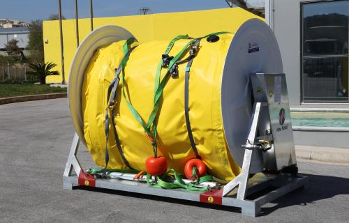 INFLATABLE BOOM A SERIES, LIGHTWEIGHT CONTAINMENT BOOMS, COMPACT OIL BOOMS, OIL SPILL BOOMS 02