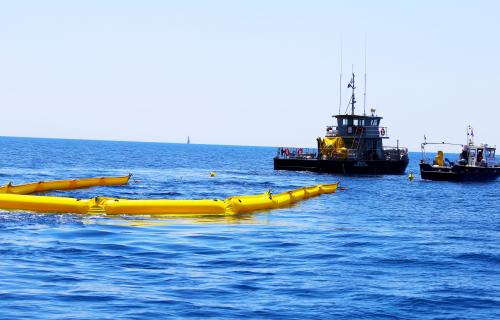 INFLATABLE BOOM A SERIES, LIGHTWEIGHT CONTAINMENT BOOMS, COMPACT OIL BOOMS, OIL SPILL BOOMS 03